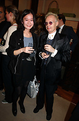 Artist Artist ANTHONY FAWCETT and SHIORI SUZUKI at a party to celebrate the 10th anniversary of the Smythson Fashion Diary and to the launch of the 2007 Limited Edition held at Smythson, New Bond Street, London on 25th October 2006.<br />