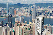HONG KONG, CHINA - SEPTEMBER 12, 2012: Cityscape of the Hong Kong city in Hong Kong, China.