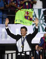 FUSSBALL  CHAMPIONS LEAGUE  FINALE  SAISON 2014/2015  06.06.2015 Juventus Turin - FC Barcelona JUBEL CHL Sieger 2015  FC Barcelona: Trainer Luis Enrique
