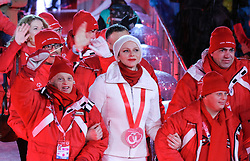 18.03.2017, Planai-Stadion, Schladming, AUT, Special Olympics 2017, Wintergames, Eröffnungsfeier, im Bild der Einmarsch der Delegation aus Monaco mit Charlene von Monaco // the delegation of Monaco with Charlene, Princess of Monaco, during the opening ceremony in the Planai Stadium at the Special Olympics World Winter Games Austria 2017 in Schladming, Austria on 2017/03/17. EXPA Pictures © 2017, PhotoCredit: EXPA / Martin Huber