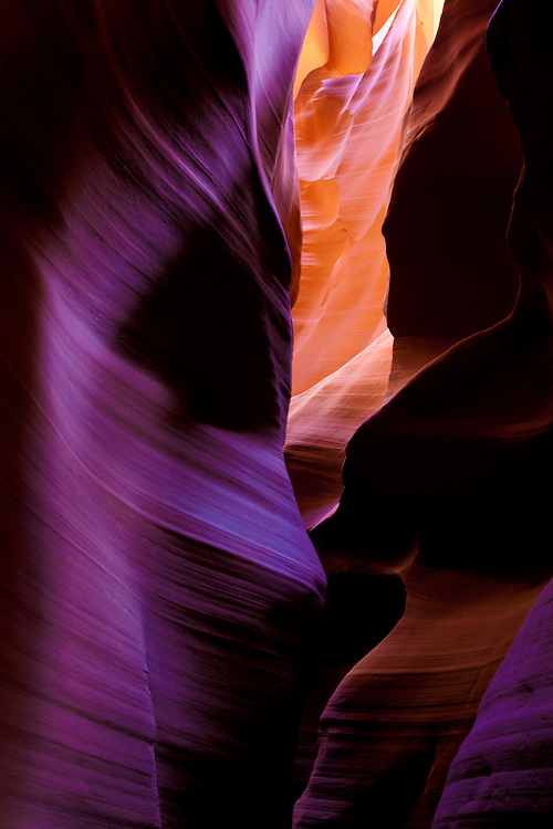 Light Shards through Sandstone Caves of Antelope Canyo