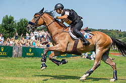 Thibaut Vallette Lt Col  (FRA) & Qing du Briot ENE HN - DHL Prize - Eventing Cross Country - CHIO Aachen 2018 - Aachen, Germany - 21 July 2018