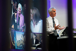© Licensed to London News Pictures . 11/11/2015 . Manchester , UK . At his first public appearance since retiring , former Chief Constable of Greater Manchester Police , SIR PETER FAHY , speaks at Manchester University on devolution and cuts in policing and reflects on his 13 years as a police chief and 34 years as an officer . Fahy is Honorary Professor of Criminal Justice at the University . Photo credit: Joel Goodman/LNP