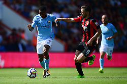 Raheem Sterling of Manchester City battles for the ball with Harry Arter of Bournemouth - Mandatory by-line: Alex James/JMP - 26/08/2017 - FOOTBALL - Vitality Stadium - Bournemouth, England - Bournemouth v Manchester City - Premier League