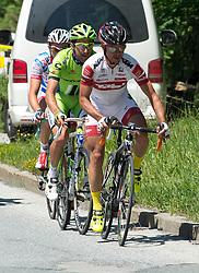 01.07.2013, Tirol, AUT, 65. Oesterreich Rundfahrt, 2. Etappe, Innsbruck - Kitzbühler Horn, im Bild die Spitzengruppe beim Anstieg zur Bergwertung Hopfgarten mit #165 Harald Totschnig, AUT, Tirol Cycling Team, #53 Federico Canuti, ITA, Cannondale Pro Cycling und #126 Allessandro Malaguti, ITA, Androni Giocattoli Venezuela // during the 65th Tour of Austria, Stage 2, from Innsbruck to Kitzbühler Horn, Tyrol, Austria on 2013/07/01. EXPA Pictures © 2013, PhotoCredit: EXPA/ R. Eisenbauer