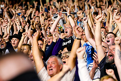 Derby County fans celebrate victory over Huddersfield Town - Mandatory by-line: Robbie Stephenson/JMP - 05/08/2019 - FOOTBALL - The John Smith's Stadium - Huddersfield, England - Huddersfield Town v Derby County - Sky Bet Championship