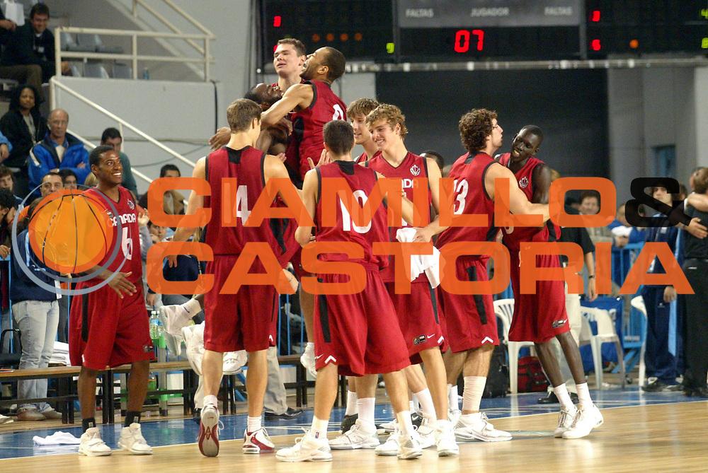 DESCRIZIONE : MAR DEL PLATA FIBA UNDER 21 WORLD CHAMPIONSHIP FOR MEN CAMPIONATO DEL MONDO UNDER 21 MASCHILE<br />GIOCATORE : ESULTANZA<br />SQUADRA : TEAM CANADA<br />EVENTO : UNDER 21 WORLD CHAMPIONSHIP FOR MAN CAMPIONATO DEL MONDO UNDER 21 MASCHILE<br />GARA : CANADA-AUSTRALIA<br />DATA : 14/08/2005<br />CATEGORIA : ESULTANZA<br />SPORT : Pallacanestro<br />AUTORE : AGENZIA CIAMILLO &amp; CASTORIA/M.Ciamillo