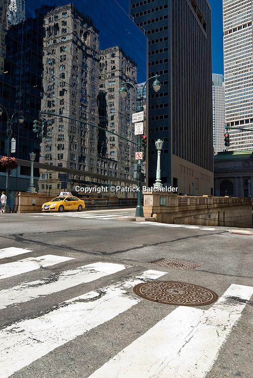 Empty Urban Street in Manhattan, New York City.