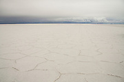 The stunning patterns of the worlds largest salt flats - salar de uyuni, Bolivia.