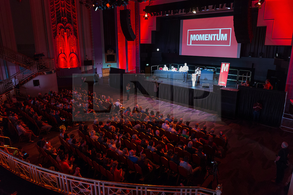 © Licensed to London News Pictures. 07/07/2016. LONDON, UK.  General view of a Momentum rally in support of keeping Jeremy Corbyn as the Labour party leader at the Troxy in east London on 6th July 2016. The event was organised by Momentum, a group of Labour Party supporters who are campaigning for Jeremy Corbyn to remain as leader of the Labour Party, following the recent resignation of many shadow cabinet MP's and the growing likelihood of a Labour Party leadership challenge..  Photo credit: Vickie Flores/LNP