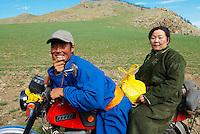 Mongolie. Province d'Ovorkhangai. Famille de nomade. // Mongolia. Ovorkhangai province. Nomad family.
