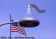 Hershey, PA, Town, Hershey Kiss Lampposts, American Flag