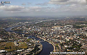 aerial photograph of  Newcastle upon Tyne England UK