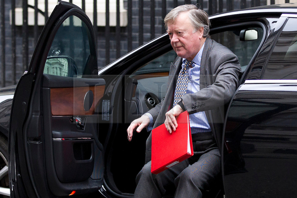 © Licensed to London News Pictures. 18/03/2014. London, UK. Minister without Portfolio, Ken Clarke, arrives for a meeting of the British cabinet on Downing Street in London today (18/03/2014). Photo credit: Matt Cetti-Roberts/LNP