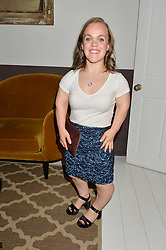 ELLIE SIMMONDS at a dinner hosted by Autograph Collection Hotels held at 19 Greek Street, Soho, London on 12th October 2016.