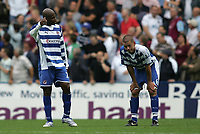 Photo: Lee Earle.<br /> Reading v West Ham United. The FA Barclays Premiership. 01/09/2007.reading's Michael Duberry (L) and Ivar Ingimarsson wonder what went wrong after West Ham scored their third goal.