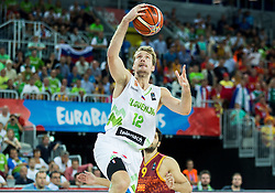 Zoran Dragic of Slovenia during basketball match between Slovenia and Macedonia at Day 6 in Group C of FIBA Europe Eurobasket 2015, on September 10, 2015, in Arena Zagreb, Croatia. Photo by Vid Ponikvar / Sportida