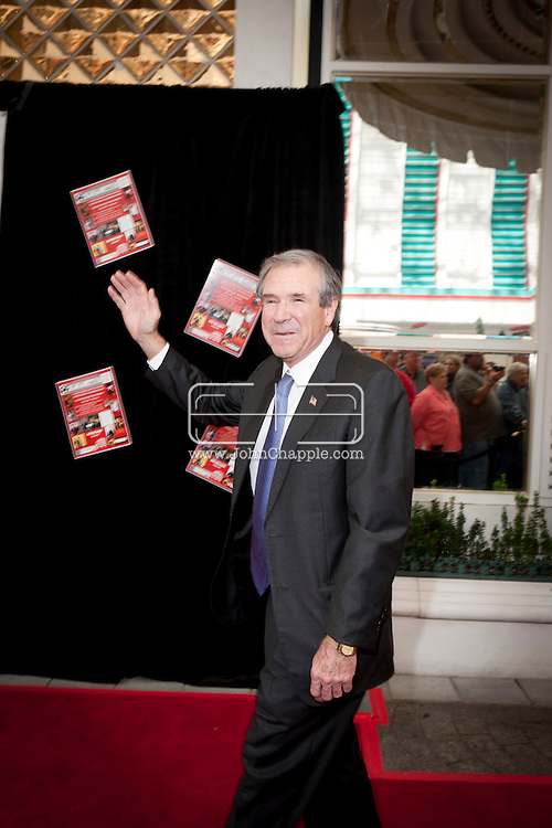 24th February 2011. Las Vegas, Nevada.  Celebrity Impersonators from around the globe were in Las Vegas for the 20th Annual Reel Awards Show. Pictured is Brent Mendenhall as George W. Bush. Photo © John Chapple / www.johnchapple.com..