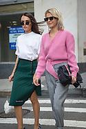 Evangelie Smyrniotaki and Caroline Daur at Victoria Beckham SS2018