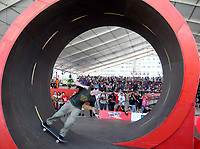 20091122: RIO DE JANEIRO, BRAZIL - Skate World Champion Bob Burnquist enters Guinness Book by doing the biggest looping of the World. PHOTO: CITYFILES