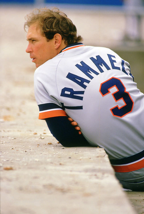 CHICAGO - 1987:  Alan Trammell of the Detroit Tigers looks on during an MLB game versus the Chicago White Sox at Comiskey Park in Chicago, Illinois during the 1987 season. (Photo by Ron Vesely).  Subject:   Alan Trammell