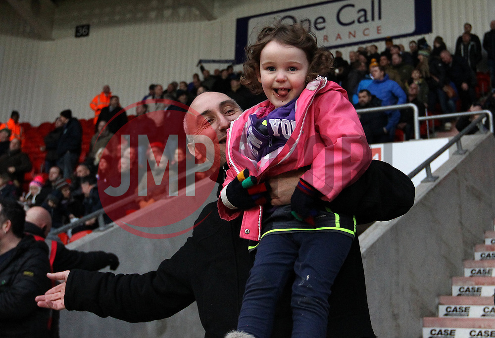 Bristol Rovers fans at Doncaster Rovers - Mandatory by-line: Robbie Stephenson/JMP - 27/01/2018 - FOOTBALL - The Keepmoat Stadium - Doncaster, England - Doncaster Rovers v Bristol Rovers - Sky Bet League One