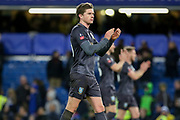 Sheffield Wednesday midfielder Adam Reach (20)  applauds the fans after the final whistle during the The FA Cup fourth round match between Chelsea and Sheffield Wednesday at Stamford Bridge, London, England on 27 January 2019.