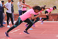 CAPE TOWN, SOUTH AFRICA - MARCH 10: Samantha Ross of UWC during the TrackGirlz events at University of Western Cape on March 10, 2018 in Cape Town, South Africa. (Photo by Roger Sedres/ImageSA)