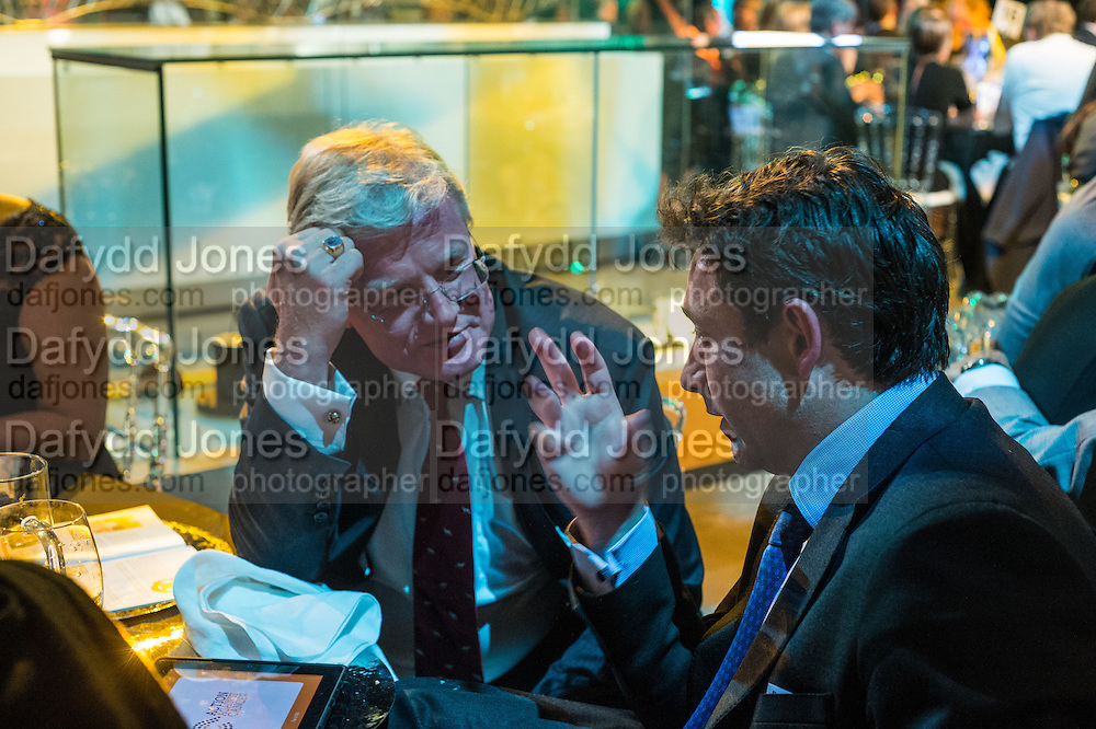 THOMAS PUTTER; PETER DAVIES, Action Against Cancer 'A Voyage of Discovery' fundraising dinner at the Science Museum on Wednesday 14 October 2015.