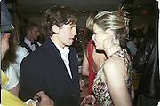 Hugh Grant and Caroline Stanbury. Doctors and Nurses charity party in aid of Cancer Research Fund. Floriana restaurant. 29 November 2000. © Copyright Photograph by Dafydd Jones 66 Stockwell Park Rd. London SW9 0DA Tel 020 7733 0108 www.dafjones.com