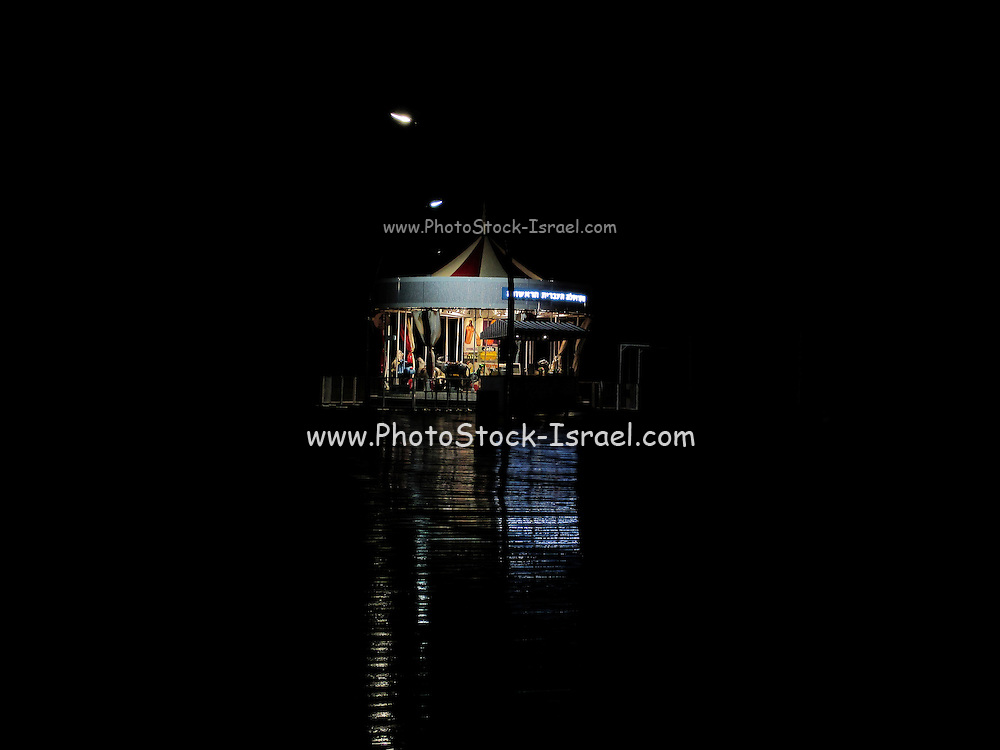 A carousel at night. Photographed at the old Tel Aviv Port, Israel