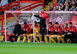Milton Keynes Dons Manager, Karl Robinson  - Photo mandatory by-line: Joe Meredith/JMP - Mobile: 07966 386802 - 27/09/2014 - SPORT - Football - Bristol - Ashton Gate - Bristol City v MK Dons - Sky Bet League One