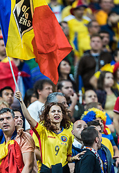 10.06.2016, Stade de France, St. Denis, FRA, UEFA Euro, Frankreich, Frankreich vs Rumaenien, Gruppe A, im Bild Rumänien Fan // France Supporters during Group A match between France and Romania of the UEFA EURO 2016 France at the Stade de France in St. Denis, France on 2016/06/10. EXPA Pictures © 2016, PhotoCredit: EXPA/ JFK
