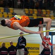 NLD/Apeldoorn/20180217 - NK Indoor Athletiek 2018, hoogspringen, Peter Siers