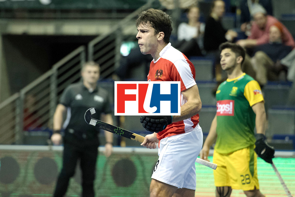 BERLIN - Indoor Hockey World Cup<br /> Austria - South Africa<br /> foto: STANZL Benjamin<br /> WORLDSPORTPICS COPYRIGHT FRANK UIJLENBROEK