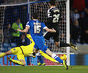 Brighton player Jamie Murphy scores the final goal during the Sky Bet Championship match between Brighton and Hove Albion and Brentford at the American Express Community Stadium, Brighton and Hove, England on 5 February 2016. Photo by Bennett Dean.