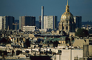 France. Paris. elevated view.  view on Paris  roofs.