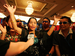 Aling Dionesia Pacquiao (Manny's mother) on her first visit to the States to cheer her son on. Manny Pacquiao v Ricky Hatton press conference, MGM Grand, Las Vegas, Nevada, 29th April 2009.