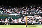 30/06/2011 - Wimbledon (Day 10) - Ladies' Singles Semi-Finals - Maria Sharapova vs. Sabine Lisicki - Sabine Lisicki on Centre Court - Photo: Simon Stacpoole / Offside.