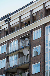 The clearing up begins after a fire in the penthouse apartment of the singer Duffy in London, Thursday 4th October 2012   Photo by: i-Images