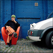 Architect and chair designer, Ron Arad outside his studio in North London.