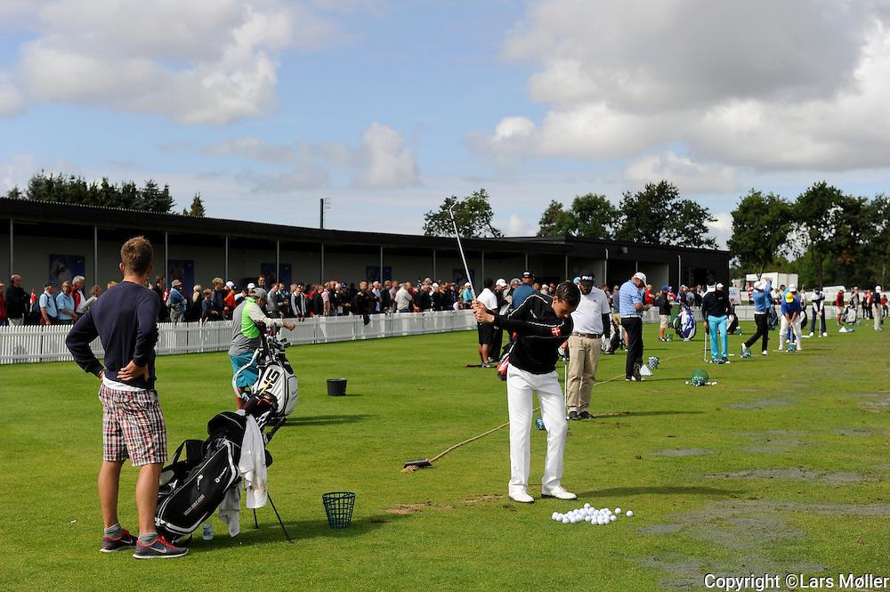 DK Caption:<br /> 20140815, Aars, Danmark:<br /> Made in Denmark Golf. 2. runde: Driving range<br /> Foto: Lars M&oslash;ller<br /> UK Caption:<br /> 20140815, Aars, Denmark:<br /> Made in Denmark Golf.  2nd round: Driving range<br /> Photo: Lars Moeller