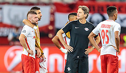 24.08.2016, Red Bull Arena, Salzburg, AUT, UEFA CL, FC Red Bull Salzburg vs Dinamo Zagreb, Play off, Rueckspiel, im Bild Valon Berisha (FC Red Bull Salzburg), Munas Dabbur (FC Red Bull Salzburg), Bernardo Fernandes da Silva Junior (FC Red Bull Salzburg) // during the UEFA Championsleague Play off 2nd Leg Match between FC Red Bull Salzburg and Dinamo Zagreb at the Red Bull Arena in Salzburg, Austria on 2016/08/24. EXPA Pictures © 2016, PhotoCredit: EXPA/ JFK