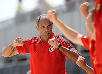 FIFA BEACH SOCCER WORLD CUP 2008 SPAIN - MEXICO   20.07.2008 Coach JOAQUIN (ESP) celebrates after his team scored the deciding 2-1.