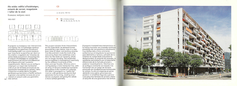 Illa Seida: edifici d'habitatges, estació de servei, magatzem i taller de la seat_ F. Mitjans Miró