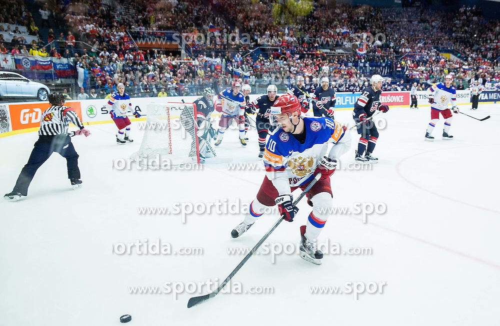 Sergei Mozyakin of Russia during Ice Hockey match between Russia and USA at Day 4 in Group B of 2015 IIHF World Championship, on May 4, 2015 in CEZ Arena, Ostrava, Czech Republic. Photo by Vid Ponikvar / Sportida