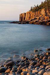 Cobblestones and Otter Cliffs in Maine's Acadia National Park.