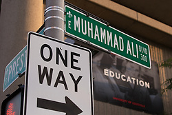 Legendary heavyweight boxing champion Muhammad Ali, a Louisville, Ky. native, died Friday, June 3, 2016. Murals and tributes could be seen across his hometown as people mourned the charismatic sports figure.<br /> <br /> June 04, 2016.