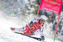Adam Kotzmann (CZE) competes in 1st Run during Men Giant Slalom race of FIS Alpine Ski World Cup 55th Vitranc Cup 2015, on March 4, 2016 in Kranjska Gora, Slovenia. Photo by Ziga Zupan / Sportida