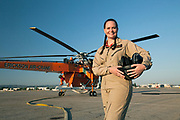 Natalie Jones, helicopter pilot for Erickson. Los Angeles, CA Shot for Like A Woman